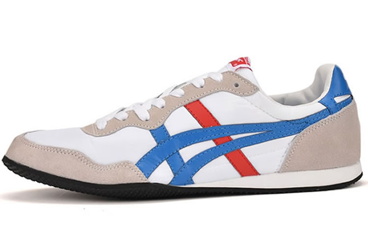 (White/ Blue/ Red) Onitsuka Tiger Serrano Shoes