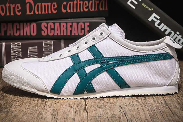 (White/ Green) Onitsuka Tiger Mexico 66 SLIP ON Shoes