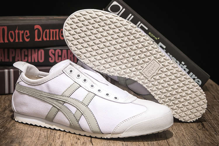 (White/ LT Grey) Onitsuka Tiger Mexico 66 SLIP ON Shoes