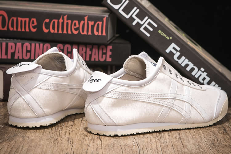(All White) Onitsuka Tiger Mexico 66 SLIP ON Shoes