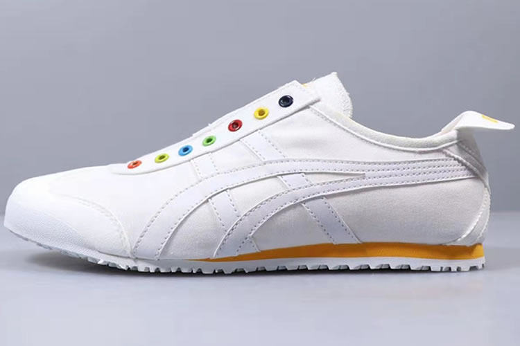 Onitsuka Tiger SLIP ON (White/ Orange) New Shoes