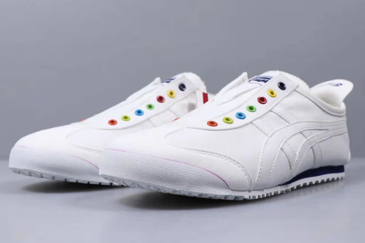 Onitsuka Tiger SLIP ON (White/ DK Blue) Shoes