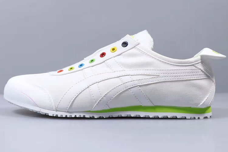Onitsuka Tiger SLIP ON (White/ Green) New Shoes