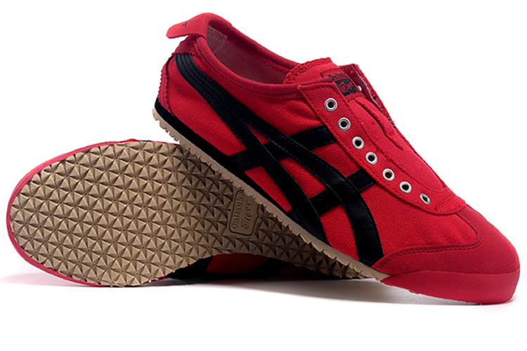 (Red/ Black) Onitsuka Tiger SLIP ON Shoes