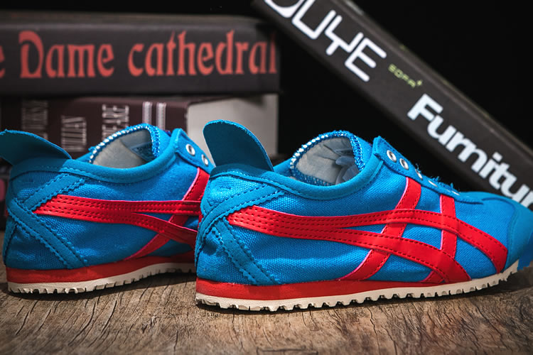 (Blue/ Red) Onitsuka Tiger SLIP ON Women Shoes