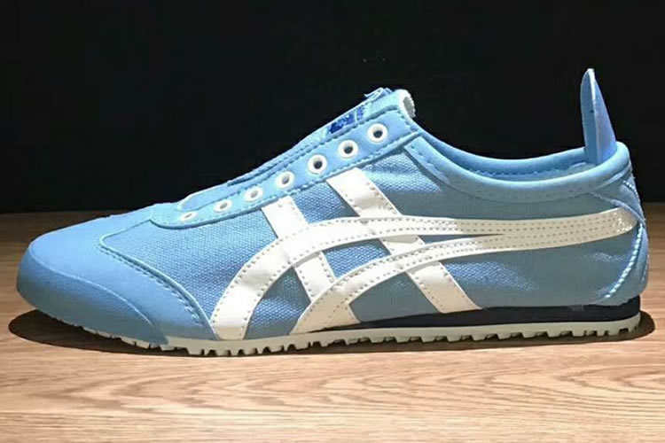 (LT Blue/ White/ Black) Onitsuka Tiger Slip On Shoes