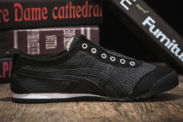 (Black/ Black) Onitsuka Tiger Mexico 66 SLIP ON