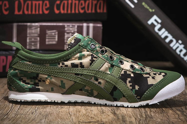 (Army Green) Onitsuka Tiger Mexico 66 Slip On Shoes - Click Image to Close
