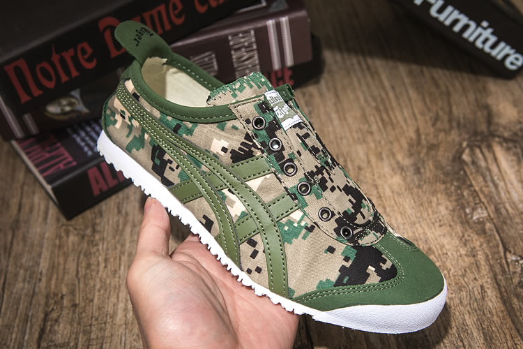 (Army Green) Onitsuka Tiger Mexico 66 Slip On Shoes