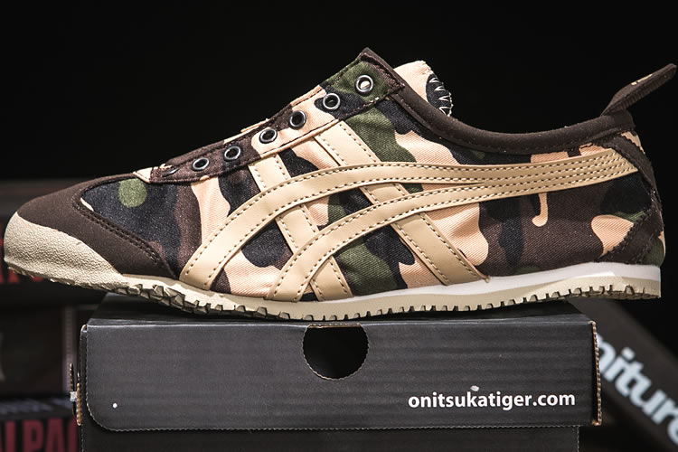 (Army Yellow) Onitsuka Tiger Mexico 66 Slip On Shoes