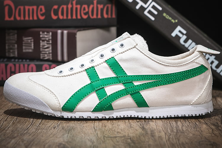 (White/ Green) Onitsuka Tiger SLIP ON Shoes