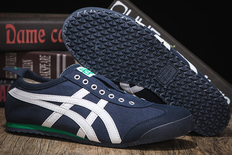 (DK Blue/ White/ Green) Onitsuka Tiger SLIP ON Shoes
