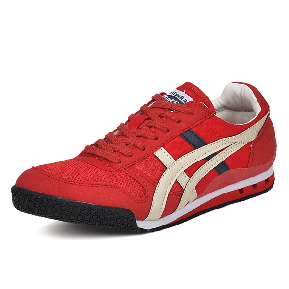 (Red/ Beige/ DK Blue) Onitsuka Tiger Ultimate 81 Shoes