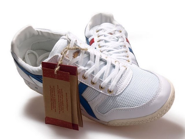 White Blue Red Mens Onitsuka Tiger Ultimate 81 Running Shoes