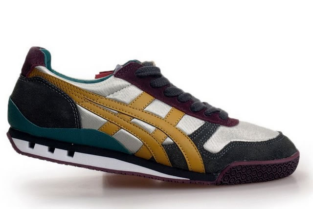 Yellow Silver Blue Mens Onitsuka Tiger Ultimate 81 Shoes