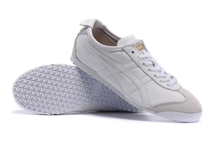 Womens Onitsuka Tiger Mexico 66 All White Shoes