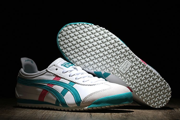 Onitsuka Tiger (White/ Green/ Peach) Mexico 66 Women Shoes