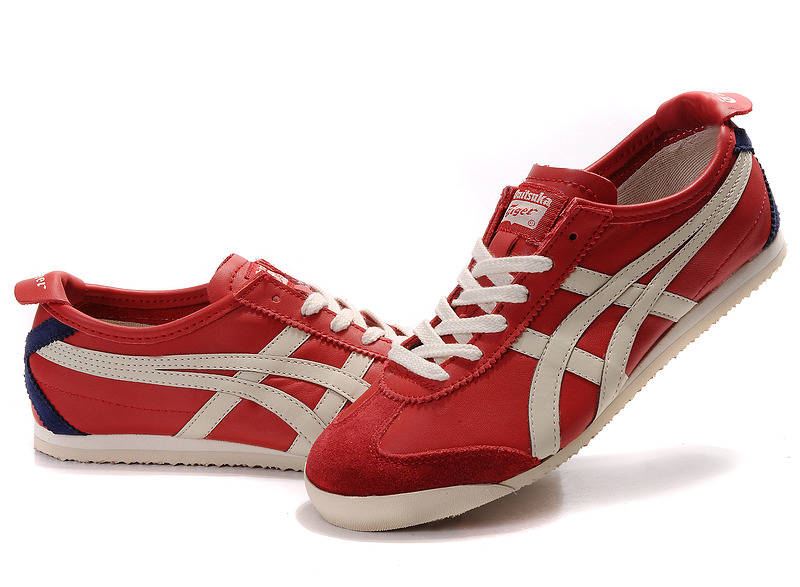 Womens Onitsuka Tiger Red Beige Blue Mexico 66 Shoes  HL202-0708 ... 9046290b84c1
