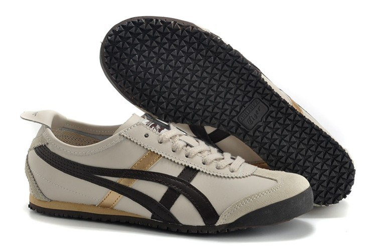 Womens Onitsuka Tiger Mexico 66 Beige Brown Gold Shoes