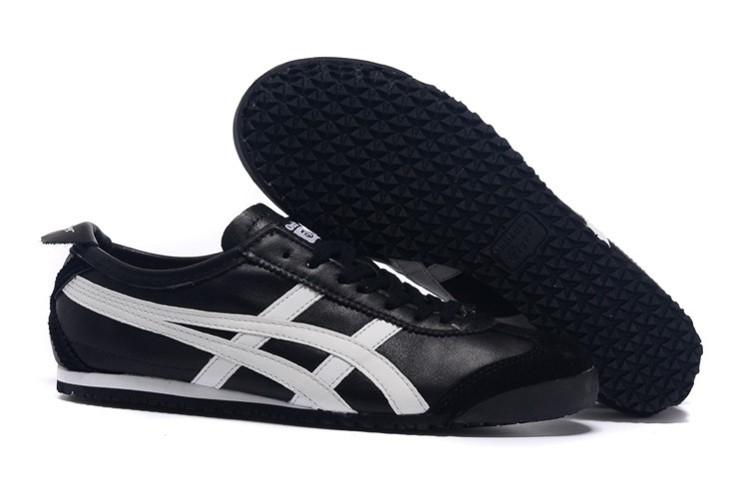 Womens Onitsuka Tiger Black White Mexico 66 Shoes
