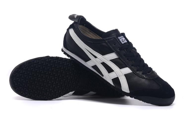 Womens Onitsuka Tiger Black White Mexico 66 Shoes  HL202-6668 ... 9d632100c4