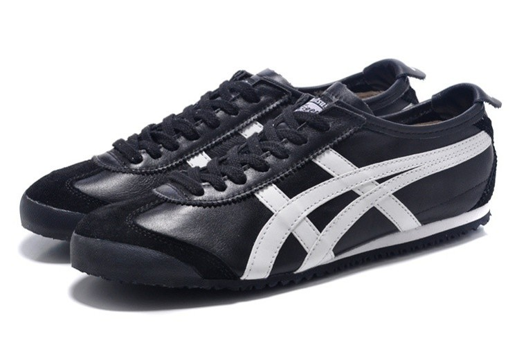 Womens Onitsuka Tiger Black White Mexico 66 Shoes