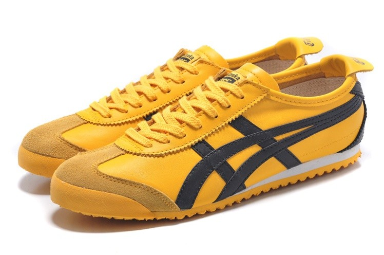 best website a1e5c c77de Womens Onitsuka Tiger Mexico 66 Yellow Black Shoes [HL202 ...