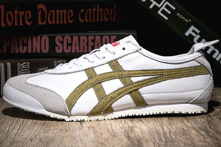 Womens Onitsuka Tiger Shoes (White/ Gold)