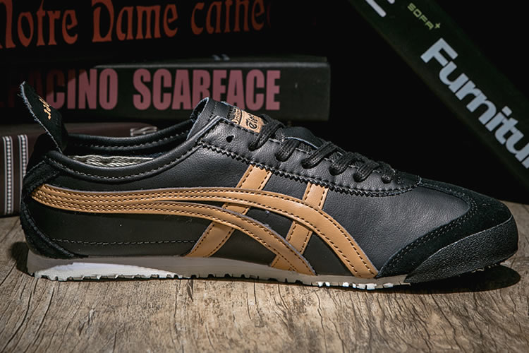 Womens Onitsuka Tiger Mexico 66 (Black/ Gold) Shoes