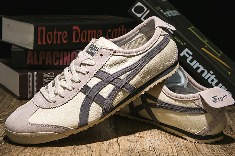 (Plicated Milky/ Grey) Onitsuka Tiger Mexico 66 VIN Women Shoes