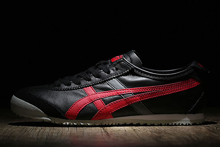 (Black/ Red) Onitsuka Tiger Mexico 66 Women Shoes