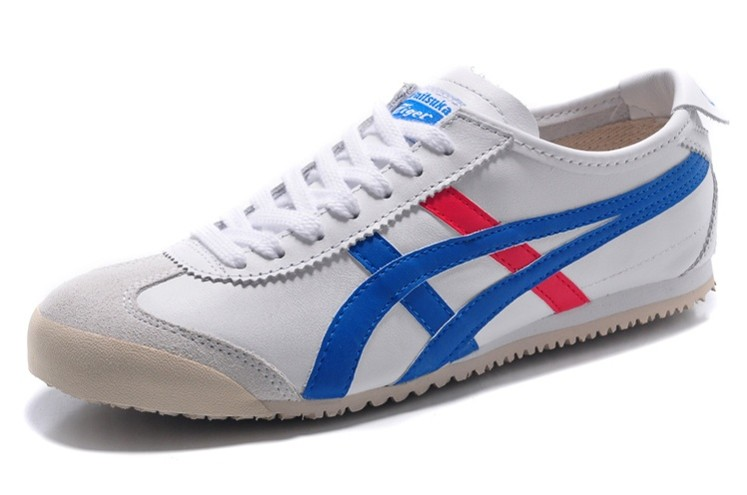 Womens Onitsuka Tiger Mexico 66 White/ Blue/ Red Shoes