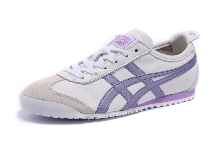 Womens Onitsuka Tiger Mexico 66 White Purple Shoes