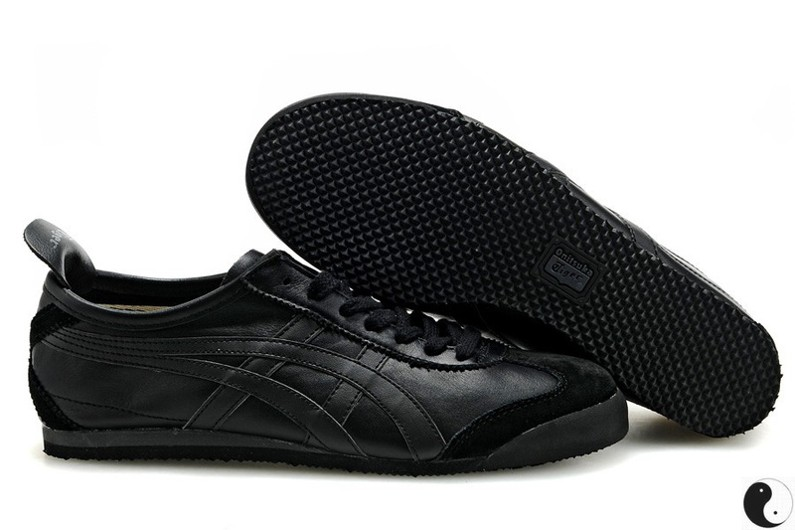 all black asics tiger