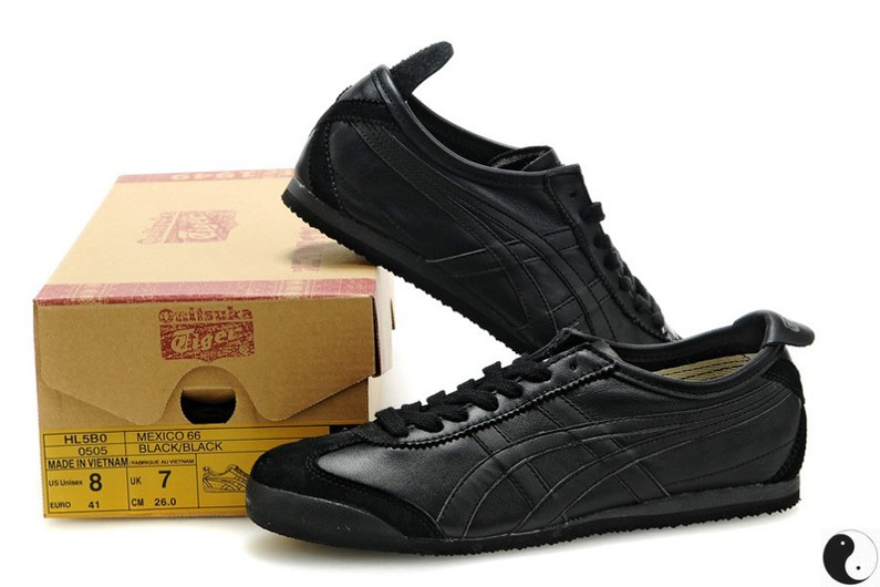 Womens Onitsuka Tiger Mexico 66 All Black Shoes