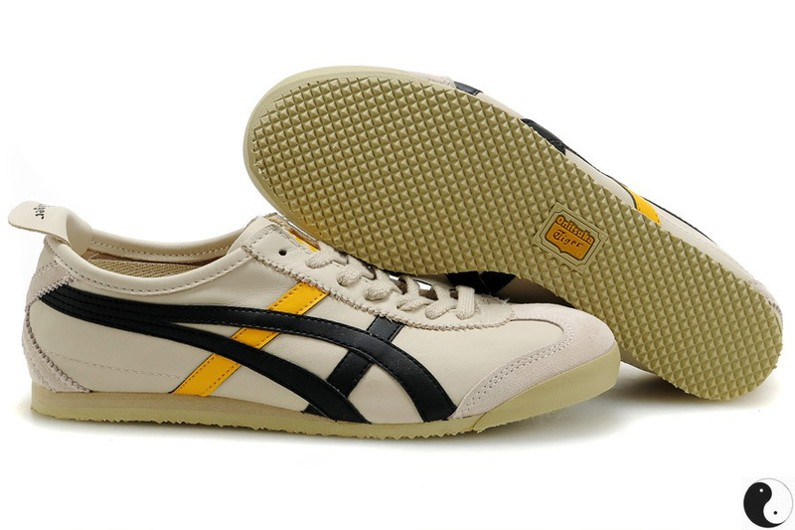 Womens Onitsuka Tiger Beige/ Black/ Yellow Shoes