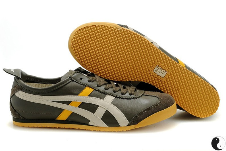 Womens Onitsuka Tiger Brown/ Beige/ Yellow Shoes