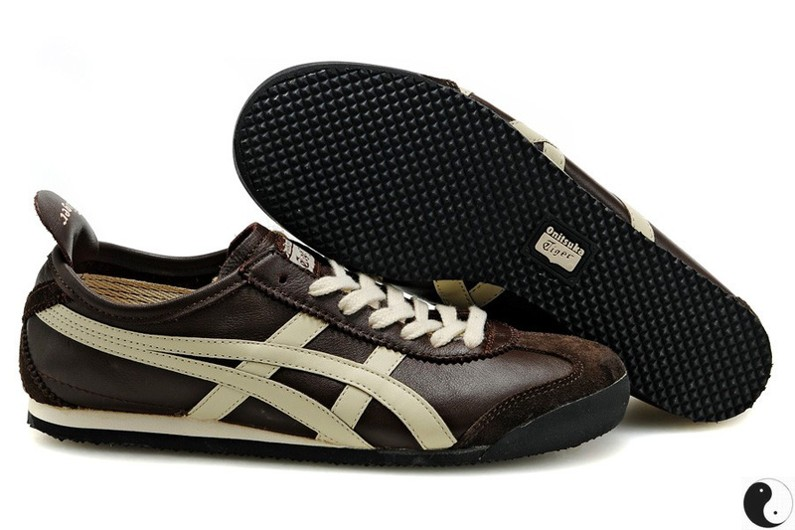 a9e9c477563 Womens Onitsuka Tiger Mexico 66 Brown Beige Shoes  HL202-6669 ...
