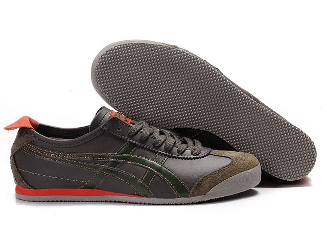 Womens Onitsuka Tiger Chocolate/ Army Green/ Tomato Shoes