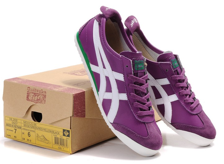 Womens Onitsuka Tiger Mexico 66 Purple White Green Shoes