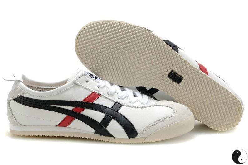 Womens Onitsuka Tiger Mexico 66 White/ Black/ Red Shoes