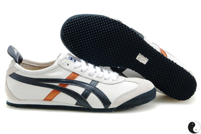 Womens Onitsuka Tiger Mexico 66 White/ Blue/ Copper Shoes