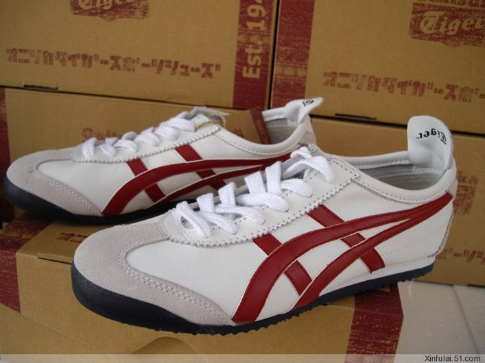 Womens Onitsuka Tiger Mexico 66 White Red Shoes