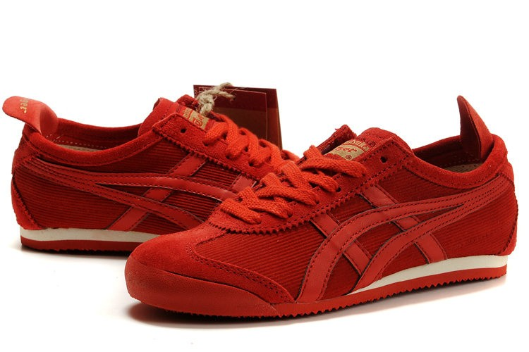 asics tiger red shoes